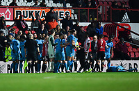 Football - 2018 / 2019 Emirates FA Cup - Fourth Round, Replay: Brentford vs. Barnet<br /> <br /> Tempers boil over in the 2nd half, at Griffin Park.<br /> <br /> COLORSPORT/ASHLEY WESTERN