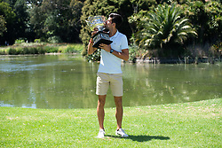 MELBOURNE, Jan. 28, 2019  Novak Djokovic of Serbia, 2019 Australian Open Champion, poses for photographs with the Championship trophy (Norman Brookes Challenge Cup) at the Royal Botanical Gardens in Melbourne, Australia on Jan. 28, 2019. (Credit Image: © Elizabeth Xue Bai/Xinhua via ZUMA Wire)