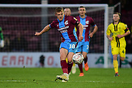 Scunthorpe United forward George Thomas during the The FA Cup 1st round match between Scunthorpe United and Burton Albion at Glanford Park, Scunthorpe, England on 10 November 2018.