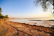 Israel Dead sea shore at sunrise