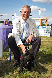 © Licensed to London News Pictures. 31/07/2015. Leeds , UK . NIGEL FARAGE visits the CLA GameFair ( Country Landowners Association ) at Harewood House in Yorkshire . Photo credit: Joel Goodman/LNP