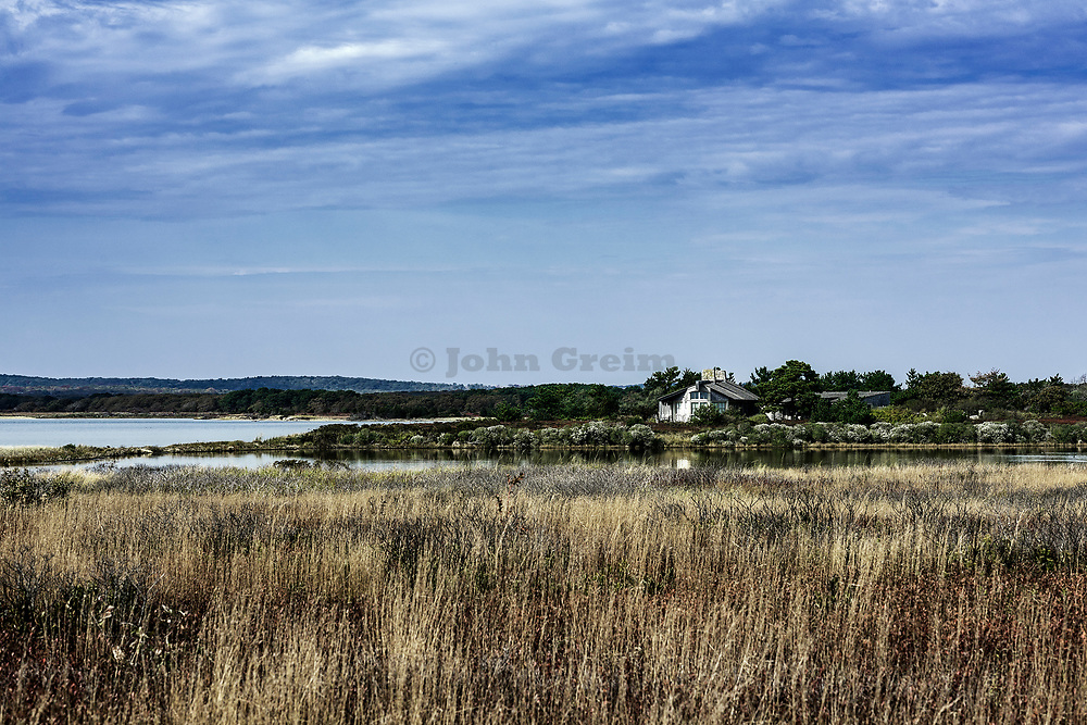 Rustic home in secluded waterfront on Tisbury Great Pond, Martha's Vineyard, Massachusetts, USA
