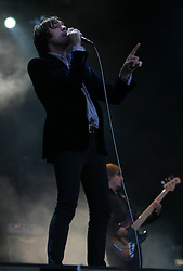 Tom Meighan of Kasabian, headline the NME stage, T in the Park, Sunday 8 July 2007..T in the Park festival took place on the 6th, 7th and 8 July 2007, at Balado, near Kinross in Perth and Kinross, Scotland. This was the first time the festival had been held over three days..Pic ©Michael Schofield. All Rights Reserved..
