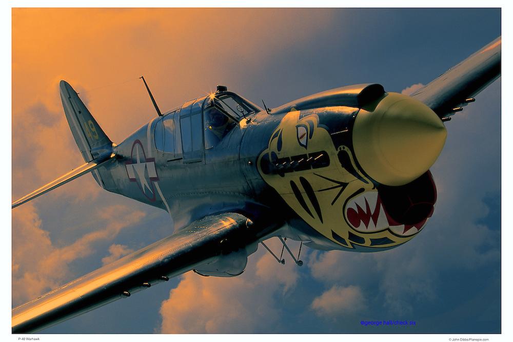 P-40 Warhawk, air-to-air