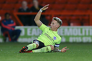 Brighton U18 Jordan Maguire-Drew is fouled during the FA Youth Cup match between U18 Nottingham Forest and U18 Brighton at the City Ground, Nottingham, England on 10 December 2015. Photo by Simon Davies.