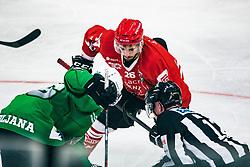 Jaka Ankerst of HDD Jesenice during 500th derbi between HK SZ Olimpija Ljubljana vs HDD SIJ Acroni Jesenice  - AHL 2019/20, on the 26th of  Oktober, Ljubljana, Slovenia. Photo by Matic Ritonja / Sportida