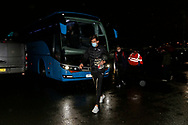 Wimbledon players arriving at the stadium during the EFL Sky Bet League 1 match between Doncaster Rovers and AFC Wimbledon at the Keepmoat Stadium, Doncaster, England on 26 January 2021.