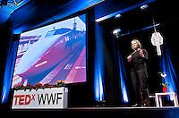 Jane Fulton Suri, IDEO speaks at the TEDx WWF conference in Geneva, Switzerland.