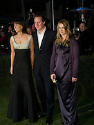 DAVID  CAMERON,  SAMANTHA CAMERON AND ANYA HINDMARCH, Conservative Party Black & White Ball Battersea Evolution, London, SW11. Fundraising ball for the Conservative Party. 6 February 2008.  *** Local Caption *** -DO NOT ARCHIVE-© Copyright Photograph by Dafydd Jones. 248 Clapham Rd. London SW9 0PZ. Tel 0207 820 0771. www.dafjones.com.