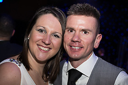 © Licensed to London News Pictures . 09/11/2013 . Manchester , UK . Hearts and Minds patrons Paralympian Natalie Jones (l) and her husband Paralympian Rik Waddon (r) . Hearts and Minds charity ball in aid of children with autism , this evening (9th November 2013) at the Hilton Hotel on Deansgate in Manchester . Photo credit : Joel Goodman/LNP
