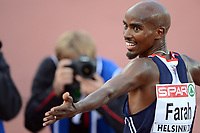 ATHLETICS - EUROPEAN CHAMPIONSHIPS 2012 - HELSINKI (FIN) - DAY 1 - 27/06/2012 - PHOTO PHILIPPE MILLEREAU / KMSP / DPPI - MEN - 5000M - MOHAMED FARAH