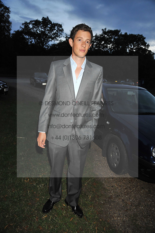 JAMES ROTHSCHILD  at a Summer party hosted by Lady Annabel Goldsmith at her home Ormeley Lodge, Ham, Surrey on 14th July 2009.