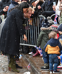 Prince Harry and Meghan Markle visit Bristol Old Vic and meet the public in Bristol, UK, on the 1st February 2019. 01 Feb 2019 Pictured: Meghan Markle, Duchess of Sussex, Prince Harry, Duke of Sussex. Photo credit: James Whatling / MEGA TheMegaAgency.com +1 888 505 6342