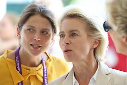 Leyen, Ursula von der (GER);<br /> Ehning, Nadja (GER), <br /> Aachen - Europameisterschaften 2015<br /> Voltigieren Pas de Deux Finale Kür,<br /> © www.sportfotos-lafrentz.de/Stefan Lafrentz