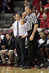 13 December 2015: Matt McMahon stands near Brad Ferrie. Illinois State Redbirds host the Murray State Racers at Redbird Arena in Normal Illinois (Photo by Alan Look)