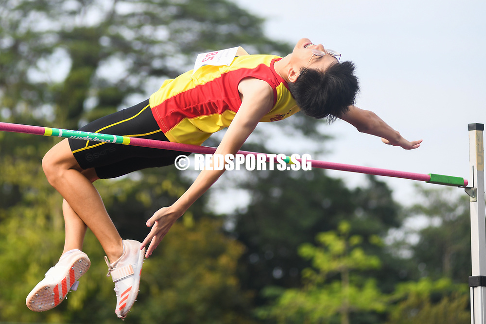 Hwa Chong Institution's Wang Lingjun came in seventh after a final jump of 1.70 metres. (Photo 1 © Stefanus Ian/Red Sports)