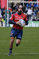 March 11, 2018 - Madrid, Madrid, Spain - Thibaut Alvarez from Spain runs with the ball during the match of Spain against Germany as part of the Rugby Europe Championship on day 4 of Rugby World Cup Trophy Tour on March 11, 2018 in Madrid, Spain. (Credit Image: © Oscar Gonzalez/NurPhoto via ZUMA Press)