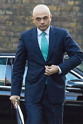Downing Street, London, February 23rd 2016. Business Secretary Sajid Javid arrives at the weekly cabinet meeting.  ©Paul Davey<br /> FOR LICENCING CONTACT: Paul Davey +44 (0) 7966 016 296 paul@pauldaveycreative.co.uk