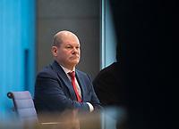 DEU, Deutschland, Germany, Berlin, 29.11.2018: Bundesfinanzminister Olaf Scholz (SPD) in der Bundespressekonferenz zum Thema Grundsteuer.