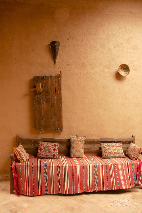 Indoor scene with moroccan style decoration