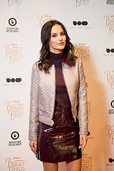 © Licensed to London News Pictures. 11/03/2017. London, UK. Ex Made in Chelsea star and model Lucy Watson attending the Digital Cinema Media screening of Beauty and the Beast during Ad Week at Picturehouse Central. Photo credit : David Tett/LNP
