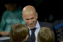 April 18, 2018 - Madrid, Madrid, Spain - Zinedine Zidane coach of Real Madrid during a match between Real Madrid vs Athletic Bilbao for La Liga Española at Santiago Bernabeu Stadium on April 18, 2018 in Madrid, Spain. (Credit Image: © Patricio Realpe/NurPhoto via ZUMA Press)
