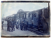civilian and military train transport France 1900s