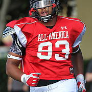 Greg Townsend Jr. during the practice session at the Walt Disney Wide World of Sports Complex in preparation for the Under Armour All-America high school football game on December 3, 2011 in Lake Buena Vista, Florida. (AP Photo/Alex Menendez)