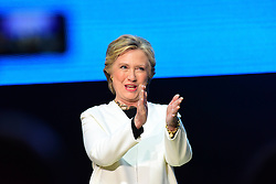 November 5, 2016 - Philadelphia, Pennsylvania, United States - Hillary Clinton made a campaign stop in Philadelphia's Mann Center for the Performing Arts accompanied by pop star Katy Perry, who sang several of her classic stand-bys, including ''Roar!'' which has been used by the Clinton campaign in their appeals. Prior to the candidate's appearance, the audience heard from Senator Corey Booker, US Representative Bob Brady, Senatorial candidate Katie McGinty and actress Debra Messing. TV producer Shonda Rimes introduced Mrs. Clinton to packed & enthusiastic crowd. (Credit Image: © Andy Katz/Pacific Press via ZUMA Wire)