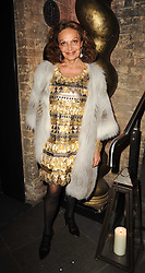 DIANE VON FURSTENBURG at The Love Ball hosted by Natalia Vodianova and Lucy Yeomans to raise funds for The Naked Heart Foundation held at The Round House, Chalk Farm, London on 23rd February 2010.