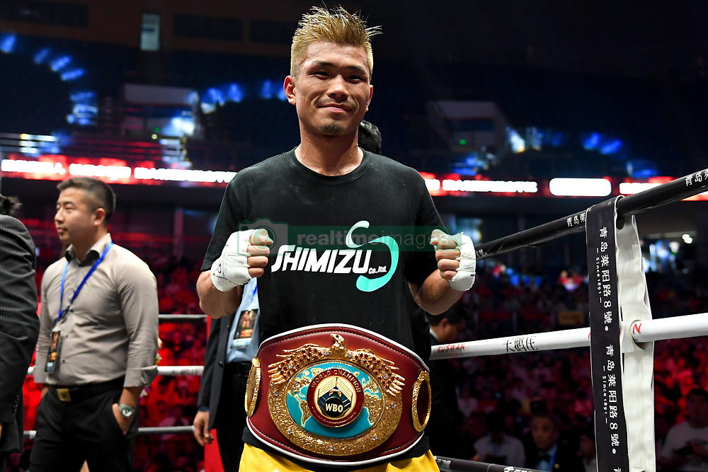July 31, 2018 - Qingdao, Qingdao, China - Qingdao, CHINA-Japanese boxer Sho Kimura Sho defeats Filipino boxer at WBA World Boxing Championship in Qingdao, east China's Shandong Province, July 27th, 2018. (Credit Image: © SIPA Asia via ZUMA Wire)