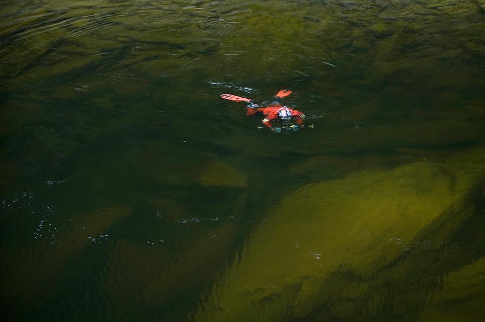 On location images shot by Patrik Karlsson. All rights still by Aqua Graphics<br /> River Orkla, Rennebu, Norway<br /> Model name: Magnus Lundgren