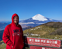 Snow covered Mount Fuji on a very clear but cold day from Mount Komagatake in Fuji Hakone Izu National Park.  Image taken with a Leica T camera and 23 mm lens (ISO 100, 23 mm, f/14, 1/250 sec).