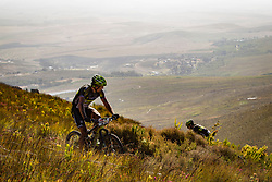 Kristian Hynek of Topeak Ergon Racing looks back for Alban Lakata of Topeak Ergon Racing during stage 1 of the 2017 Absa Cape Epic Mountain Bike stage race held from Hermanus High School in Hermanus, South Africa on the 20th March 2017<br /> <br /> Photo by Nick Muzik/Cape Epic/SPORTZPICS<br /> <br /> PLEASE ENSURE THE APPROPRIATE CREDIT IS GIVEN TO THE PHOTOGRAPHER AND SPORTZPICS ALONG WITH THE ABSA CAPE EPIC<br /> <br /> ace2016