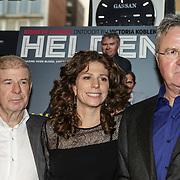 NLD/Amsterdam/20150202 - Presentatie sportblad Helden 25, Frirs Barend, Guus Hiddink en Barbara Barend