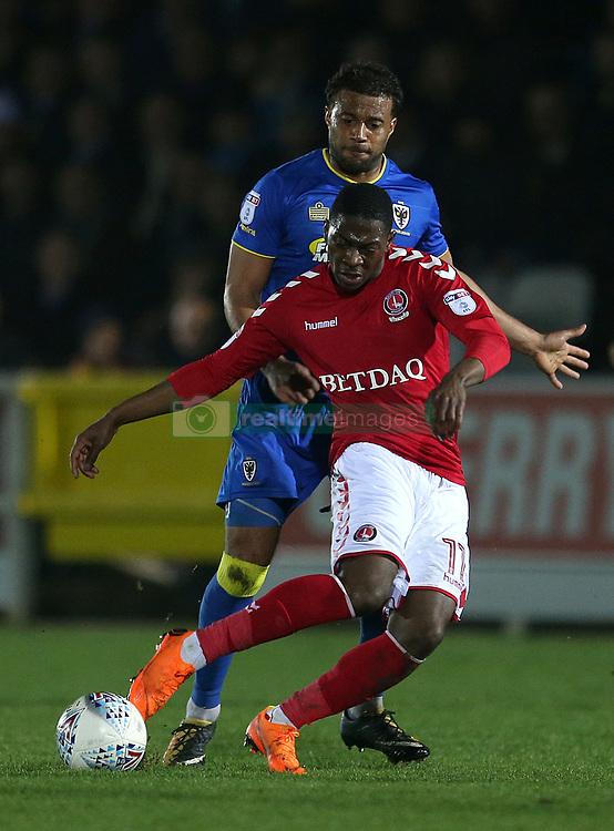 Charlton Athletic's Sullay Kaikai in action