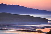 Drakes Estero and Drakes Head at Dawn,Phillip Burton Wilderness, Point Reyes National Seashore, California