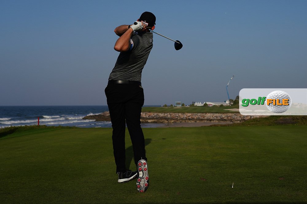 Joachim B. Hansen (DEN) on the 9th during Round 2 of the Oman Open 2020 at the Al Mouj Golf Club, Muscat, Oman . 28/02/2020<br /> Picture: Golffile   Thos Caffrey<br /> <br /> <br /> All photo usage must carry mandatory copyright credit (© Golffile   Thos Caffrey)