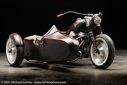 Fred Cuba's Softail Trike. Photographed by Michael Lichter in Sturgis, SD. August 6, 2021. ©2021 Michael Lichter