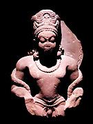 Mathura Gupta style sculpture of the Hindu god Vishnu circa AD 300-400, sandstone