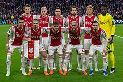 08-05-2019 NED: Semi Final Champions League AFC Ajax - Tottenham Hotspur, Amsterdam<br /> After a dramatic ending, Ajax has not been able to reach the final of the Champions League. In the final second Tottenham Hotspur scored 3-2 / Matthijs de Ligt #4 of Ajax, Donny van de Beek #6 of Ajax, Dusan Tadic #10 of Ajax, Daley Blind #17 of Ajax, Kasper Dolberg #25 of Ajax, Andre Onana #24 of Ajax, Noussair Mazraoui #12 of Ajax, Frenkie de Jong #21 of Ajax, Lasse Schone #20 of Ajax, Hakim Ziyech #22 of Ajax, Nicolas Tagliafico #31 of Ajax
