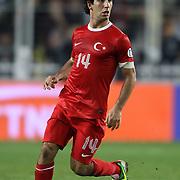 Turkey's Arda Turan during their FIFA World Cup 2014 qualifying soccer match Turkey betwen Romania at Sukru Saracoglu stadium in Istanbul october 12, 2012. Photo by TURKPIX