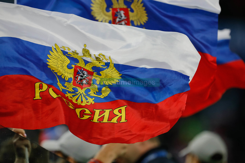 June 19, 2018 - Saint Petersburg, Russia - Russia flags are up during the 2018 FIFA World Cup Russia group A match between Russia and Egypt on June 19, 2018 at Saint Petersburg Stadium in Saint Petersburg, Russia. (Credit Image: © Mike Kireev/NurPhoto via ZUMA Press)