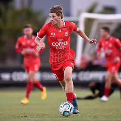 BRISBANE, AUSTRALIA - NOVEMBER 22:  during the NPL Queensland Senior Mens Semi Final match between Olympic FC and Gold Coast Knights at Goodwin Park on November 22, 2020 in Brisbane, Australia. (Photo by Patrick Kearney)