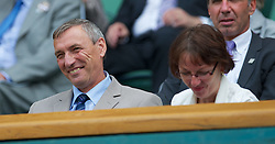 26.06.2012, Wimbledon, London, GBR, WTA, The Championships Wimbledon, im Bild Parents of Petra Kvitova, Jiri and Pavla, in the Royal Box during day two of the WTA Tour Wimbledon Lawn Tennis Championships at the All England Lawn Tennis and Croquet Club, London, Great Britain on 2012/06/26. EXPA Pictures © 2012, PhotoCredit: EXPA/ Propagandaphoto/ David Rawcliff..***** ATTENTION - OUT OF ENG, GBR, UK *****