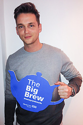 "© Licensed to London News Pictures . 19/01/2015 . Liverpool , UK . Danny Kelly . Celebrities pose with "" Big Brew "" placards in support of mental health awareness as today (19th January 2015) marks "" Blue Monday "" , the day regarded by many as the most depressing in the year . Campaigners are urging the public to show support by tweeting sefies with their favourite brew and the hashtag "" #brewfie "" . In London , Deputy Prime Minister Nick Clegg , is announcing his campaign to improve mental health awareness , reduce stigma and promote a "" zero ambition "" target for suicide . Photo credit : Joel Goodman/LNP"