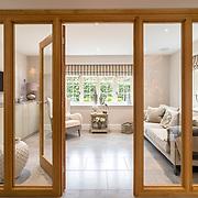 Snug room behind a glass wall.