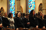 """Catholic high schools from the dioceses of Chicago, Rockford and Joliet are gathered for a mass at Holy Name Cathedral to focus on promoting service leadership in the church under the theme """"A Call To Serve""""."""