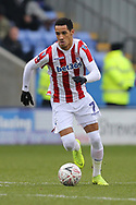 Stoke City midfielder Thomas Ince (7) during the The FA Cup 3rd round match between Shrewsbury Town and Stoke City at Greenhous Meadow, Shrewsbury, England on 5 January 2019.