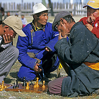 MONGOLIA, Darhad Valley. Chess tournament at a Naadum festival in Rinchenlhumbe.